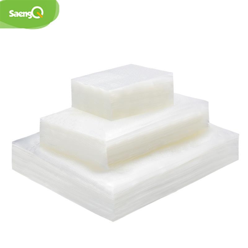 saengQ 100pcs / lotto Sacchetti cucina a vuoto da sigillatore di vuoto della macchina imballatrice del sacchetto di immagazzinaggio BPA-Free Accessori Cucina