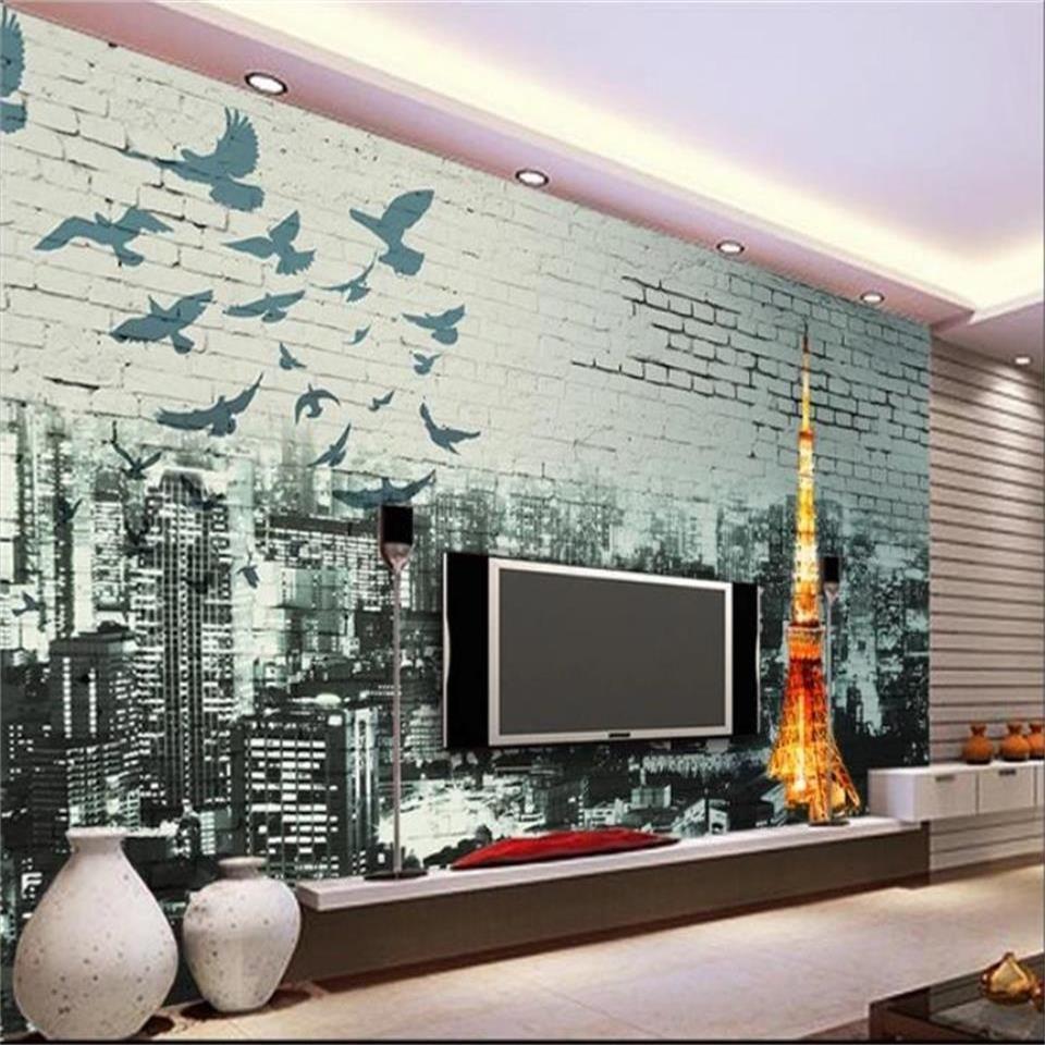 formato personalizzato 3d foto carta da parati soggiorno camera dei bambini camera da letto murale Parigi Tokyo Torre Eiffel adesivo TV sfondo tappezzeria divano immagine