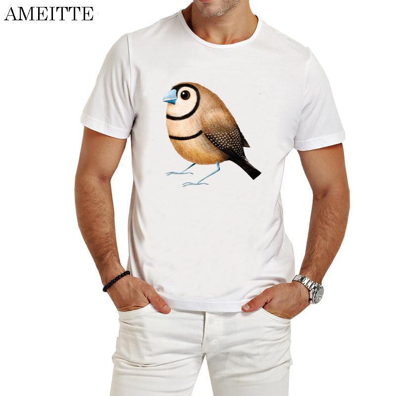 Moda Erkekler tişört Finch Tişört Casual Tees Güzel Kuş Tasarım Man Baskı Ameitte Yaz Boy Kısa Kollu Üstler Çift Çubuklu