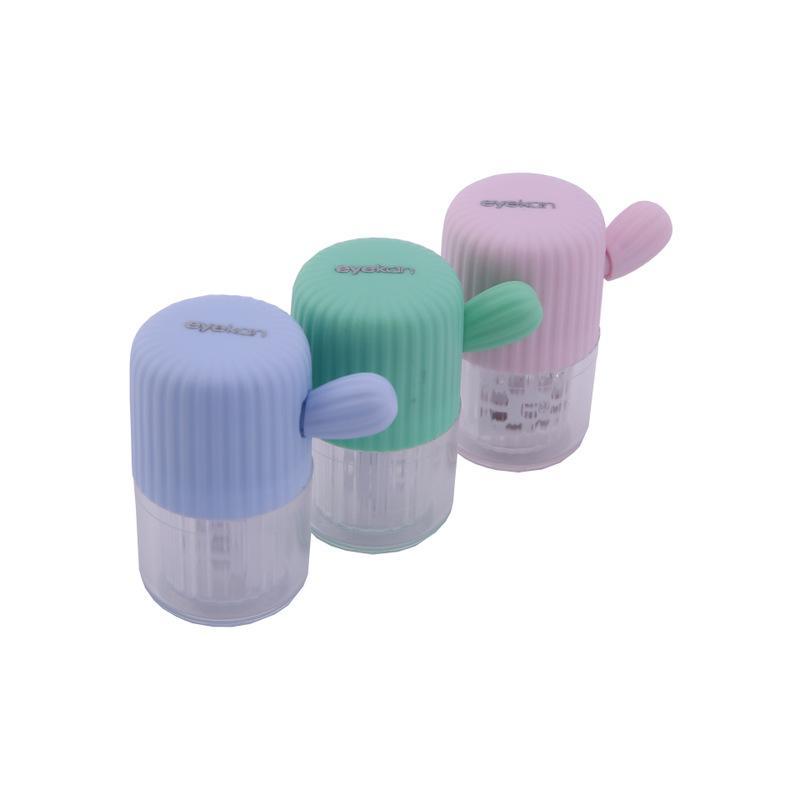 Kontaktlinsen-Reiniger Fall Manuelle Rotation Typ Plastikbehälter Tragbarer Washer Reinigung Objektive Box Stretch Manuelle Reinigungsmittel-Werkzeug