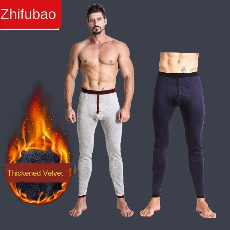 Tx0ou Einzelstück Warm verdickten Gamaschen Samt Enge Neue dünne feste Männer warme Hosen modale Stretchhosen Herbst