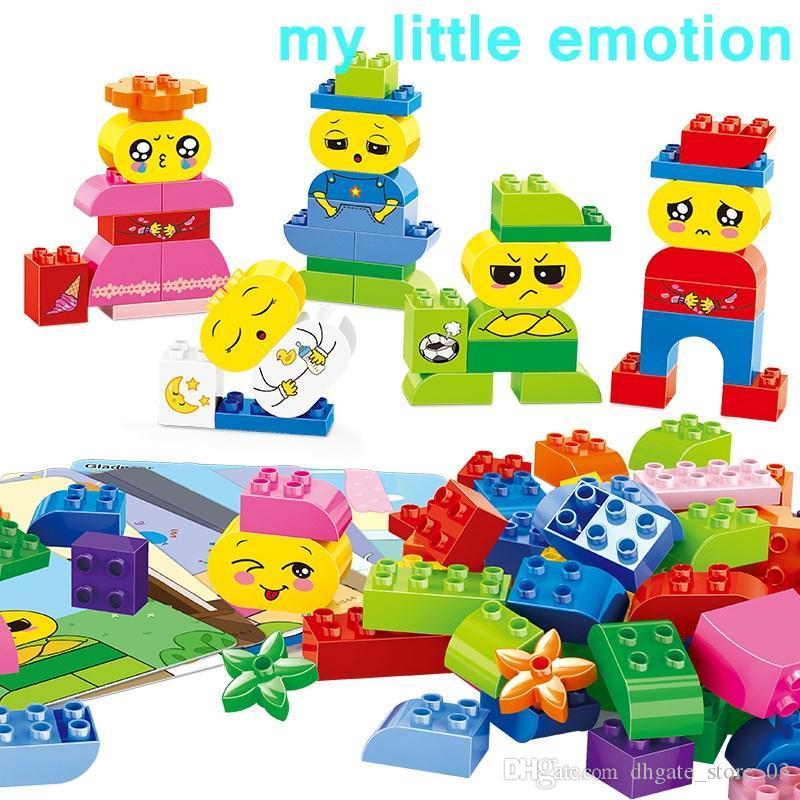 Çocuk anaokulunda Unisex okul öncesi öğrenme plastik için Duygu öğrenme tuğla hayali oyun figürü akıllı bloklar modeli hediyeler