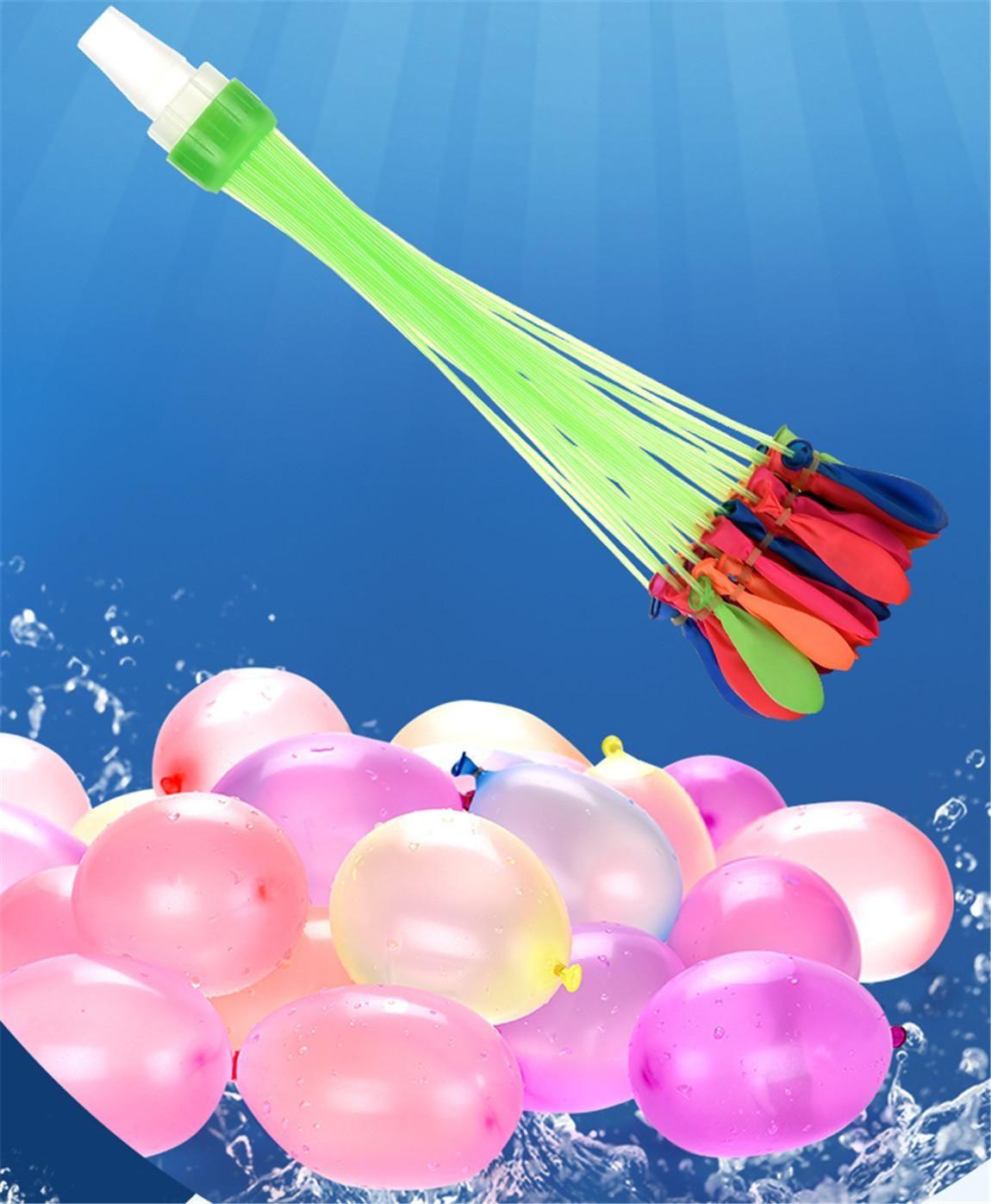 111Psc eau coloré rempli Ballons d'été pour enfants Garden Party plein air jouer dans les jeux aquatiques pour les enfants Jouets rapide Facile de remplissage d'eau 08