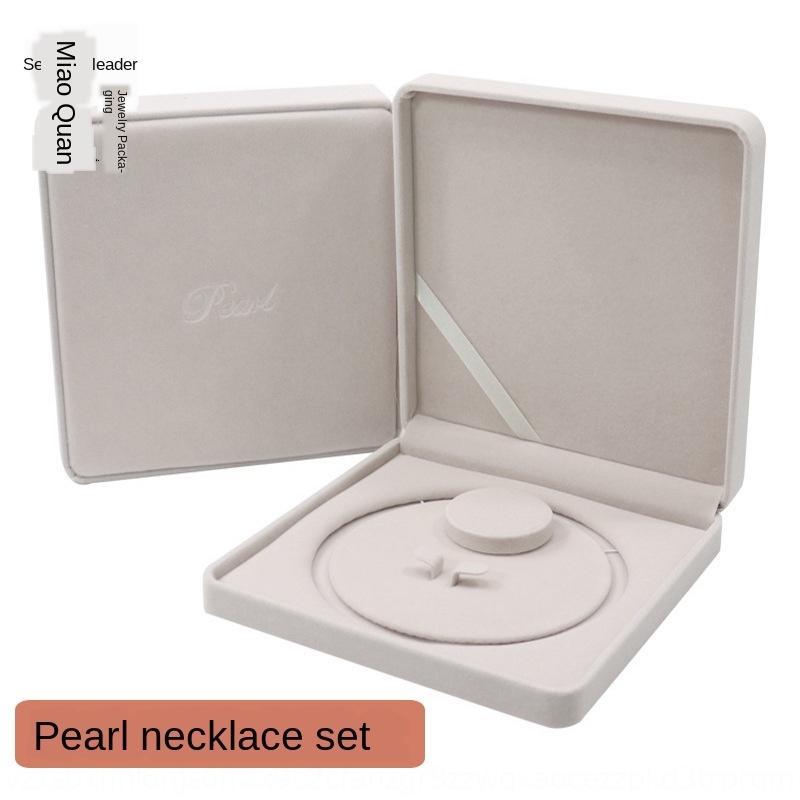 jZW4i Nueva caja de regalo collar de franela de alta gama de perlas de perlas caja de regalo para el Día de la Madre