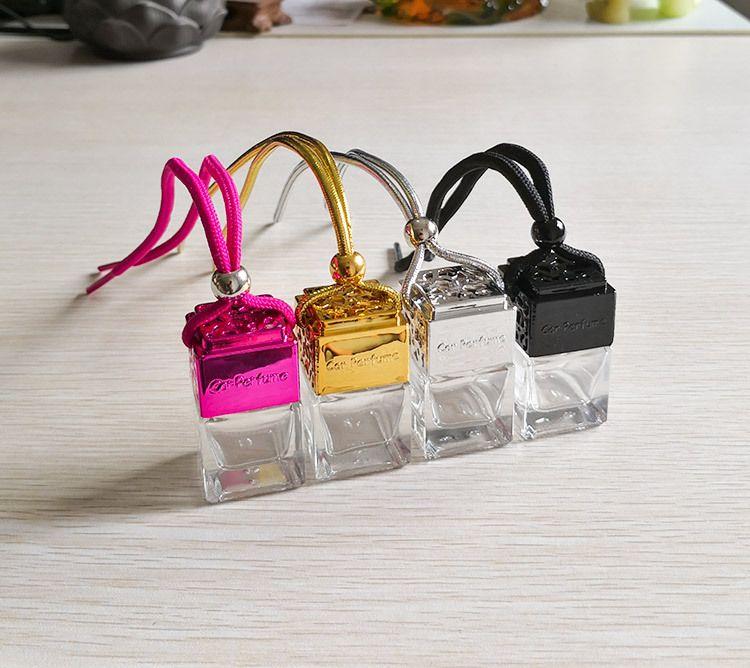 Кубин полые автомобильные парфюмерные флакон заднего вида орнамент висит висит освежитель воздуха для эфирных масел диффузор аромат пустые стеклянные бутылки кулон