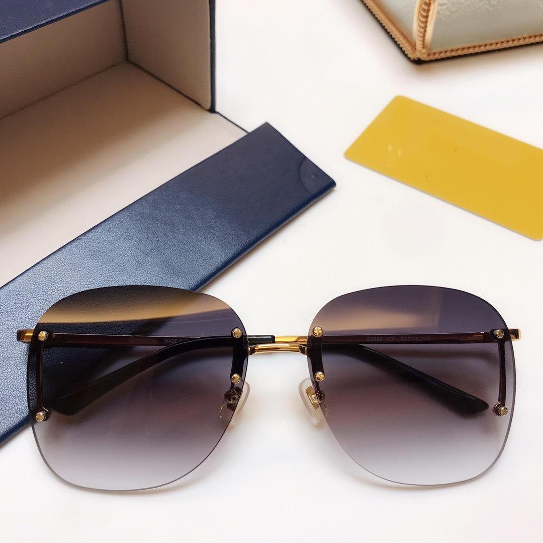 جديد موقف فاخرة تصميم النظارات الشمسية Z3088 للرجال أزياء للأشعة فوق البنفسجية حماية عدسة ساحة كاملة الإطار لون الذهب مطلي الإطار تأتي مع حزمة