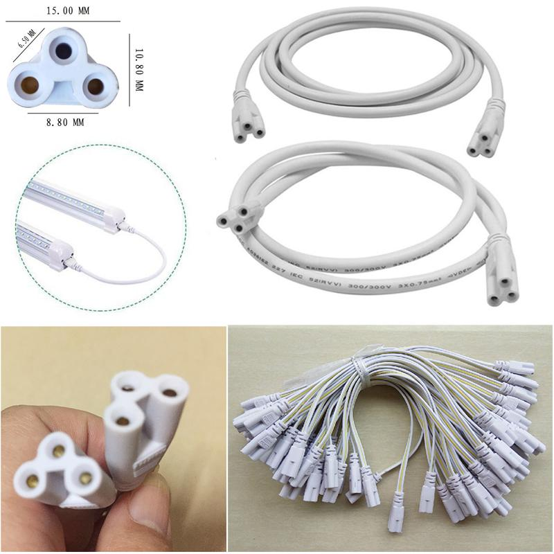 3-Pin-LED-Rohrverbinder 20cm 30 cm 50 cm 100 cm 150cm Dreiphasen-T4 T5 T8 LED-Lampenbeleuchtung Verbinden Doppel-End-Kabeldraht