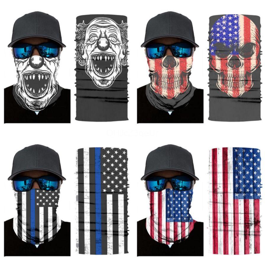 FyMnZ Outdoor crâne écharpe coupe-vent UV magique Bandana Ski Randonnée Pêche cou crâne écharpe cyclisme visage Masque Protection crâne écharpe # 925