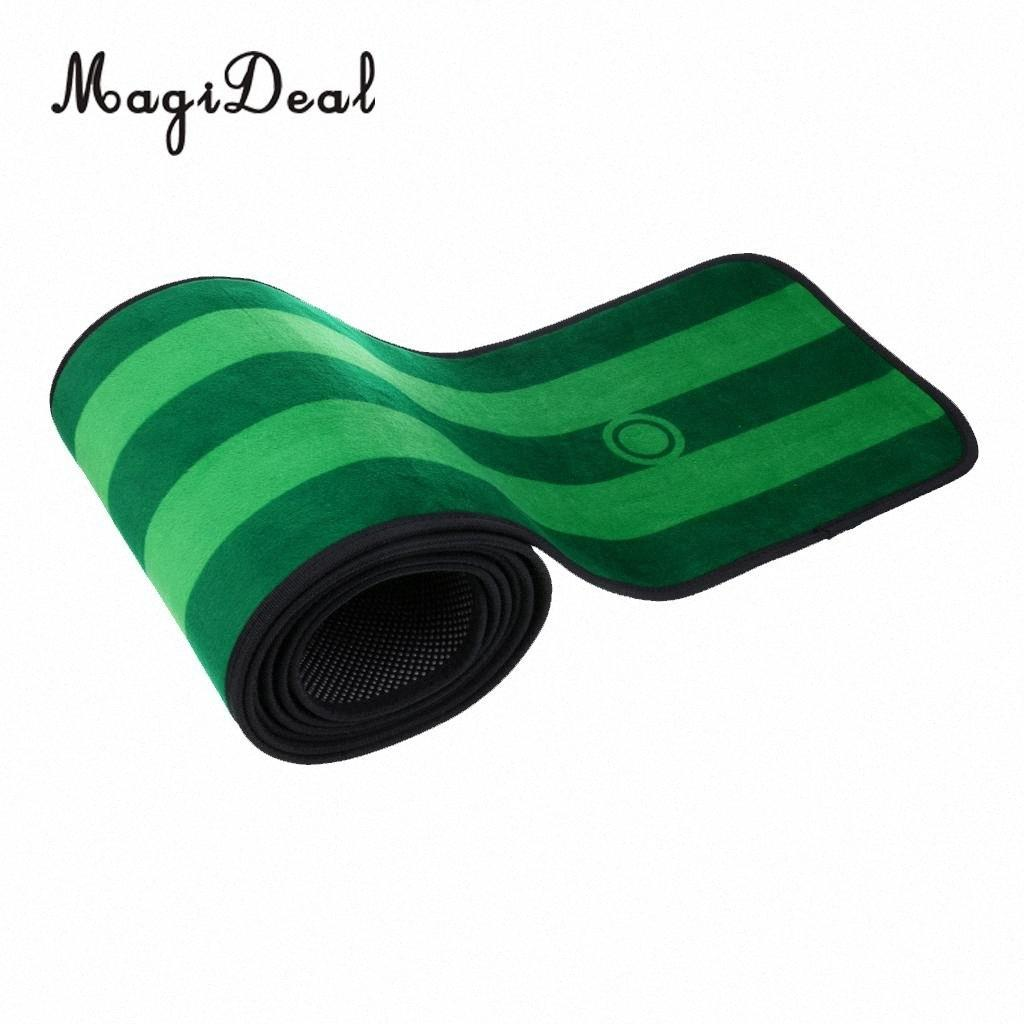 10' x 1' Non-slip Indoor Practice Golf Putting Green Mat Golf Training Aid with Putting Cup Flag and Storage Bag Training Aids a6Rf#