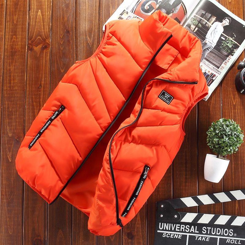 al8my jaqueta casal de algodão roupas pai-filho colete engrossado gola de outono e inverno de bolso curta infantil colete fashion jacket