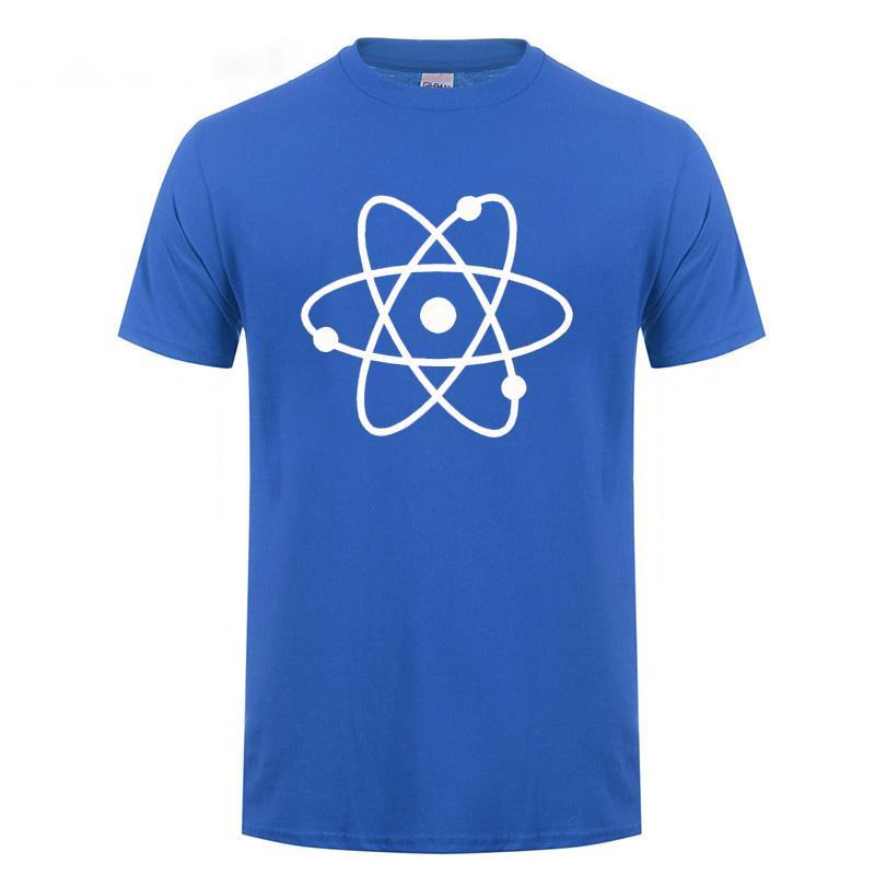 Raffreddare Scienza Atom T shirt Uomo manica corta girocollo Loose Fit in cotone T-shirt Geek Nerd Harajuku casual maglietta Abbigliamento Uomo Tee