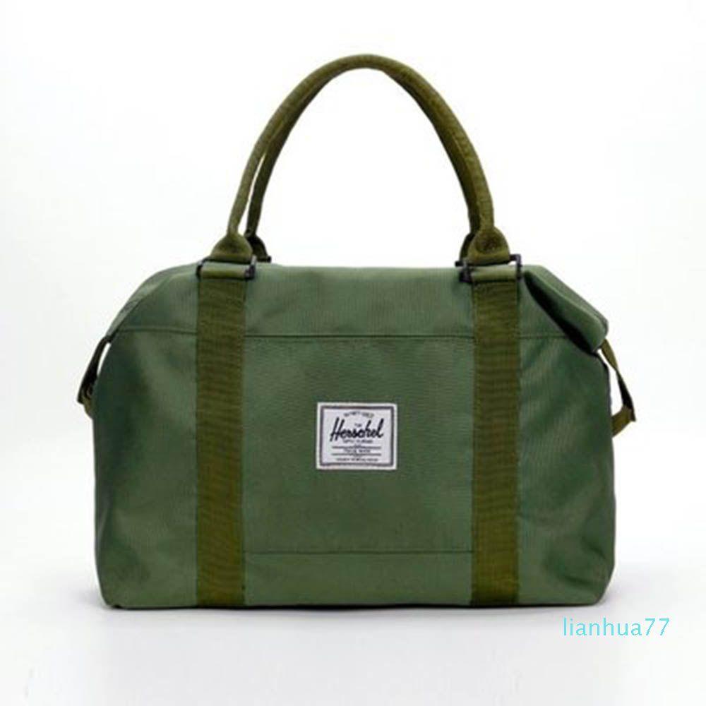 Diseñador-Fuerte Oxford Hombres bolsas de viaje equipaje de mano bolsas de asas de los hombres Duffle WomenTravel grande Noche de fin de semana organizador del bolso de 2019