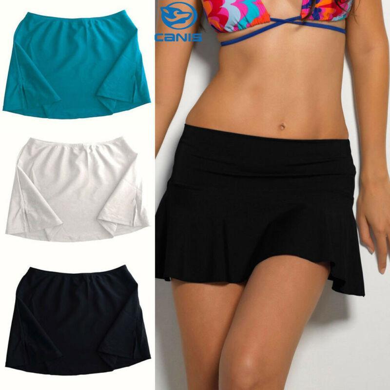 Kadınlar Lady Swim Bikini Bottoms parça bikini Plaj Kapak kadar (değil pantolon) Topraklar Renk Şort Etek Mayo