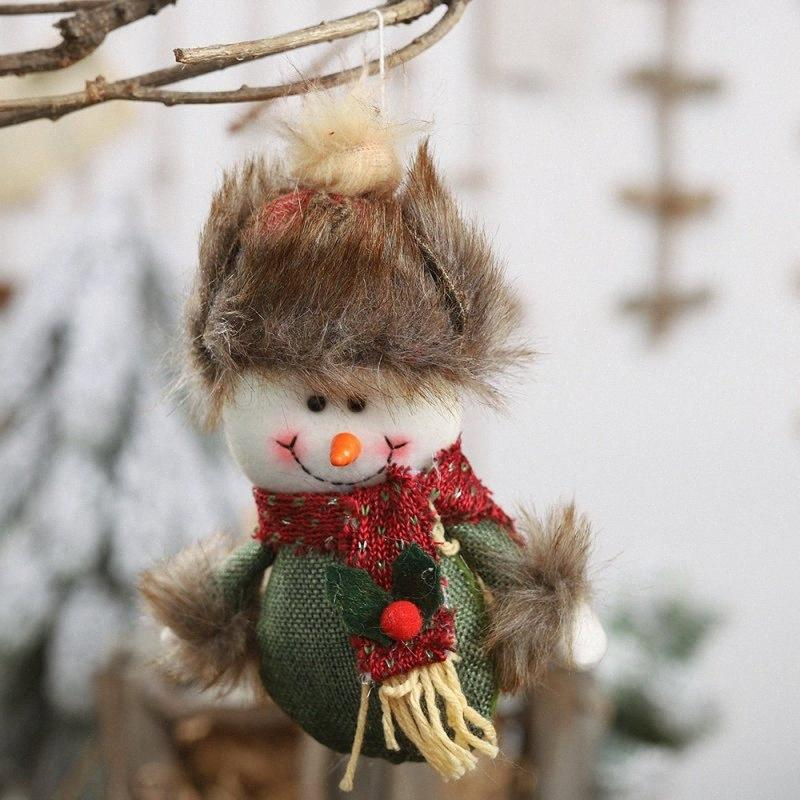 Natale bambola decorativi appesi peluche ornamenti decorazione dell'albero di Natale regali di bambole carino con la corda per Natale l'albero di Natale decorazioni di Chris Eq7d #