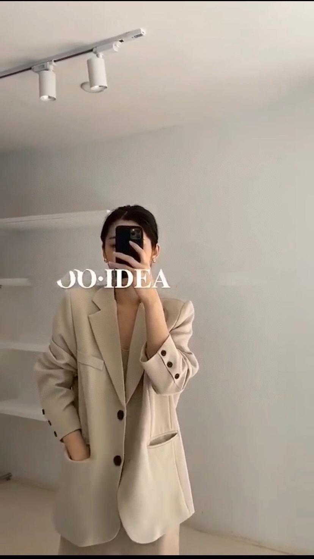 2020ins coreano blogger riso aria stesso stile albicocca seme casuale a due bottoni per il cappotto delle donne cappotto