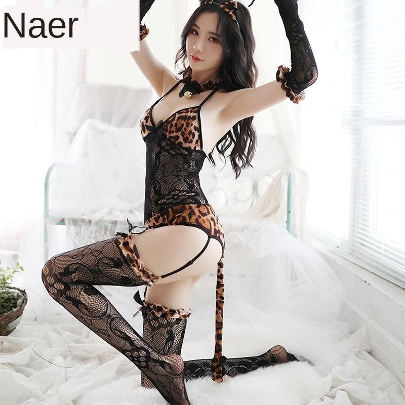 dQZ6J de cejas sentencia de la ropa interior de impresión de una sola pieza de ropa interior neta ropa sexy tentación leopardo tentación ropa netos calcetines de leopardo