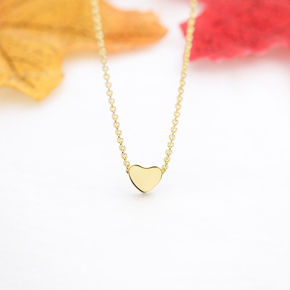 Regalo del día de la joyería de las mujeres collar de la declaración del oro del corazón para las mujeres Collares de cadena del oro joyería Gargantilla Valentine
