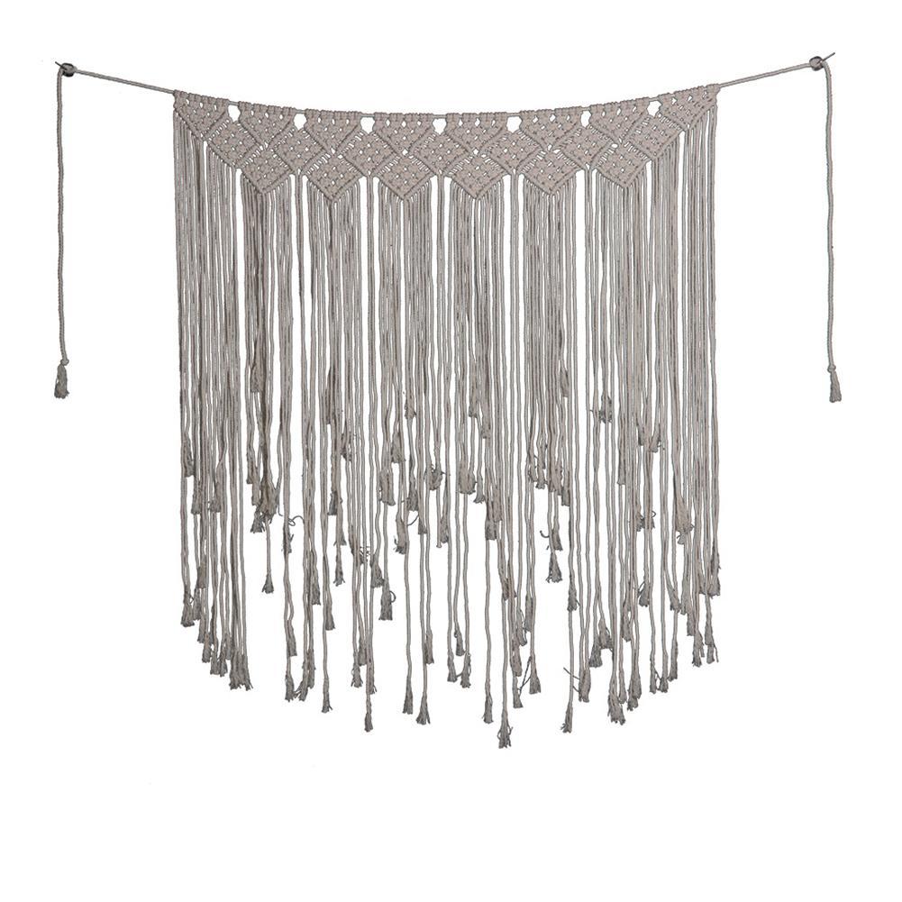 Bohemian cortina Fringe Corda Garland bandeira Woven Tapestry Ofício da parede Hanging