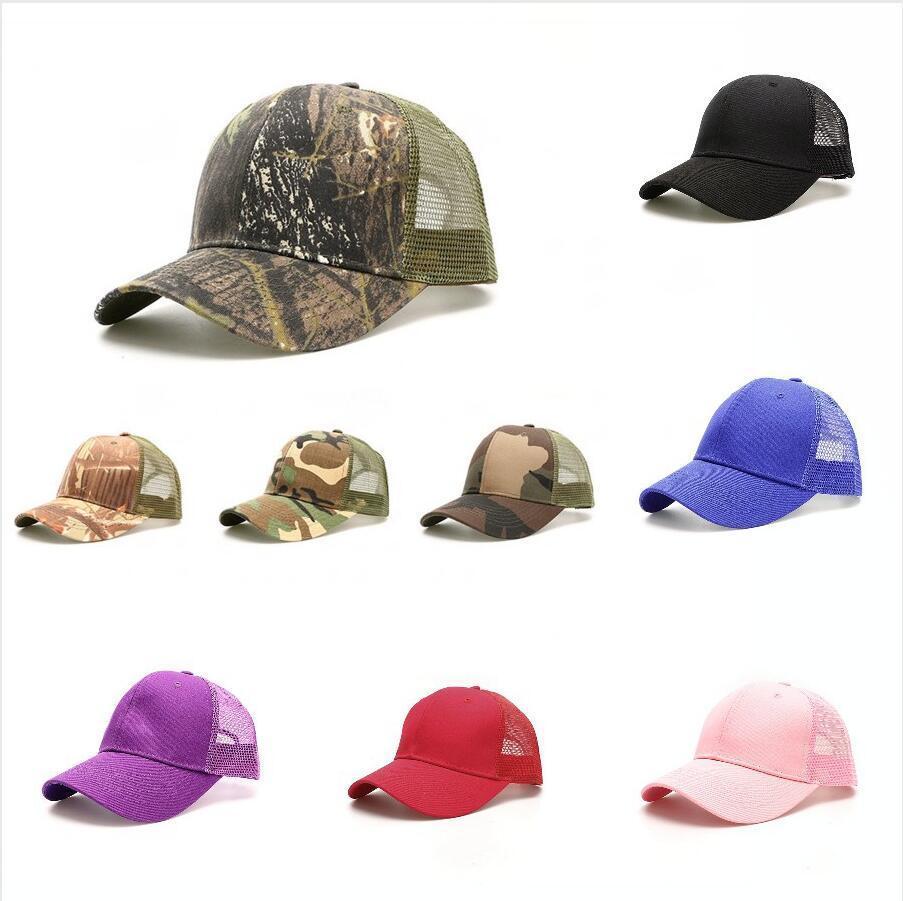 Hot Ponytail Baseball Chapeau unisexe de camouflage casquette de pare-soleil réglable Snapback été Casual Sports de plein air Hat