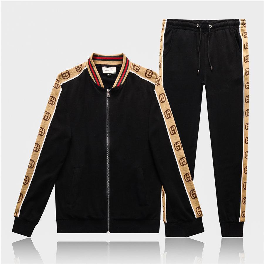 Tracksuits Erkekler Spor Suit Kazak Sweatpants Erkek Gym Fitness Eğitimi Hoodie Pantolon Boyun Koşu Suits Spor Zip ayarlar Koşu 3x