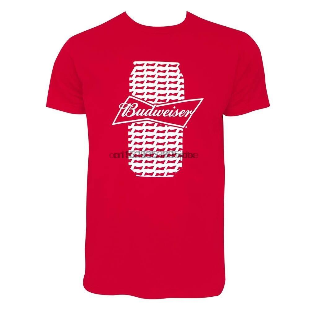 Budweiser Beer Can Tee Shirt Red