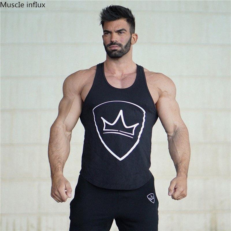 Sommer-Männer Gymnastik-Sport-Betrieb-athletische Tanktops Fitness Bodybuilding Männer Tank-Tops Trainingsärmel Shirts Under Xb5p #