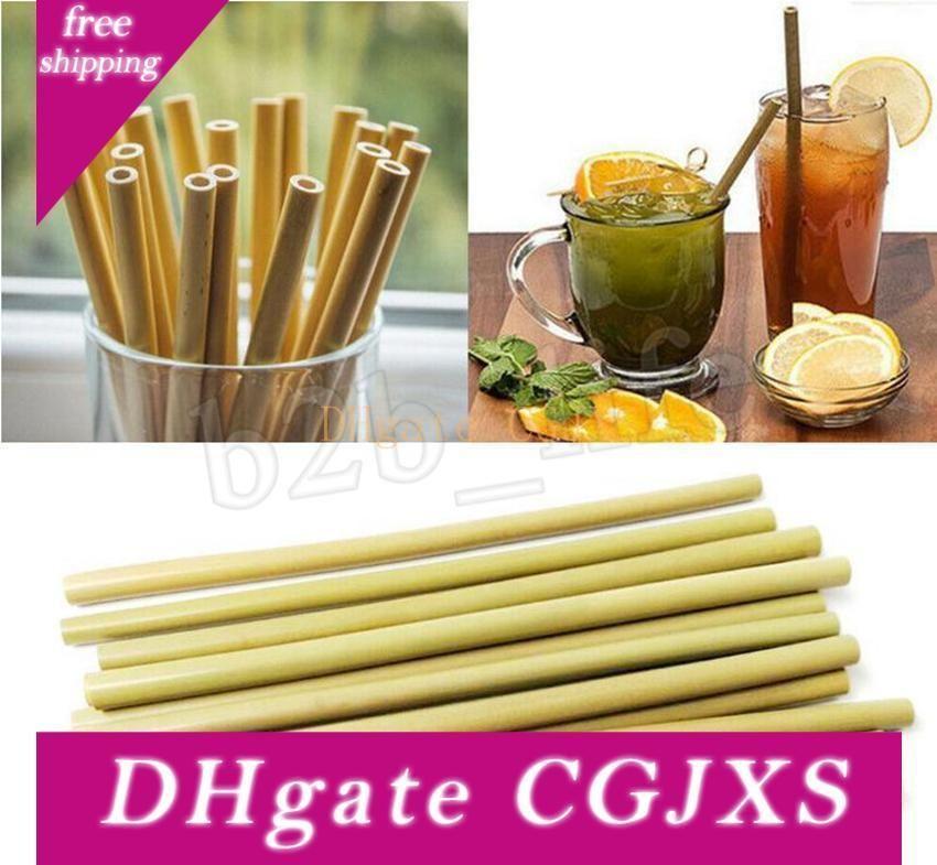 Bamboo Straw 23 centimetri riutilizzabile Cannuccia Bevande Cannucce Brush Cleaner per la festa di nozze Bar Bere Strumenti Mma2931 -5