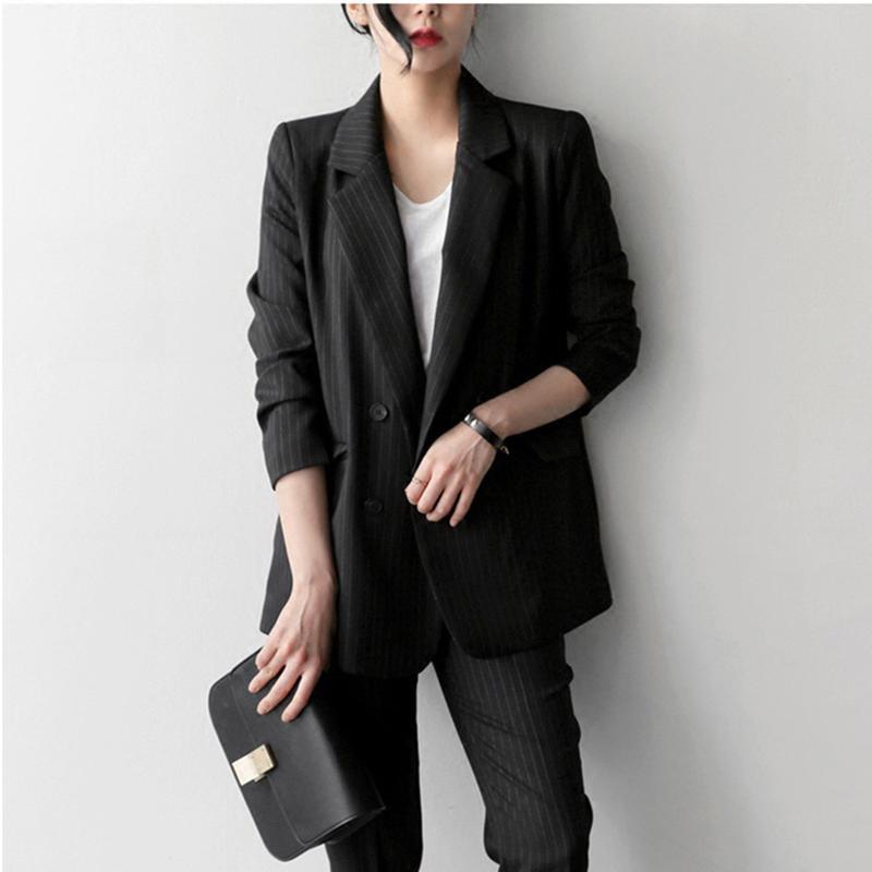 Mode de bureau féminin Fanco pantailleurs bandes à double boutonnage femmes et pantailleurs de bureau