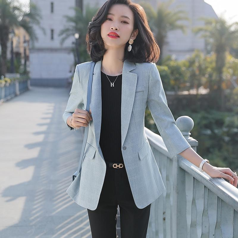 2020 Корейский стиль костюм женский дизайн чувство ниши пальто пальто ранней весной талии новая кнопка один костюм RpOlr