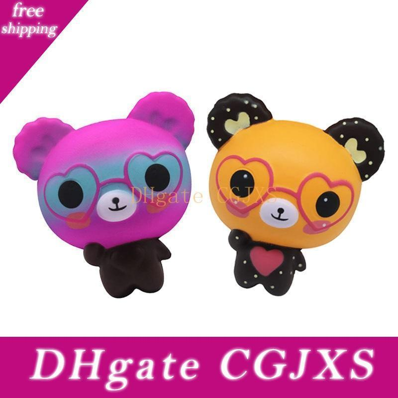 Macios Brinquedos Squishies Coelho Tiger Owl Panda abacaxi Urso bolo Mermaid lenta Nascente Squeeze bonito de telefone celular Strap Presente Para Kid Toy 666