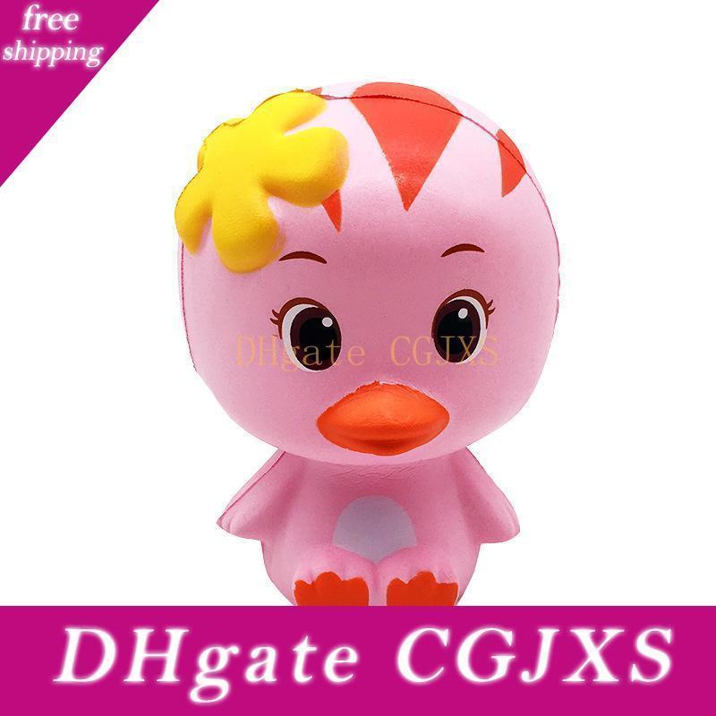 Squishy Pink Duck Slow Восходящей Soft Негабаритного Телефон Squeeze игрушка Подвеска Антистрессового Kid Мультфильм декомпрессионной игрушка