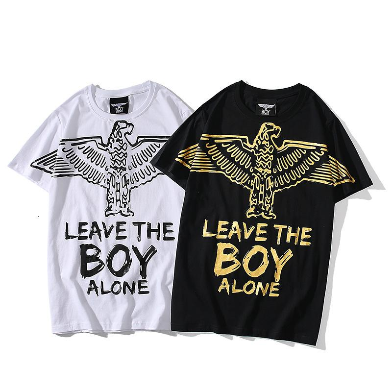 Hochwertiger Frühling und Sommer neue Modemarke Junger Classic Eagle Kurzarm T-Shirt für Männer und lose Baumwolle halbe Hülse der Frauen