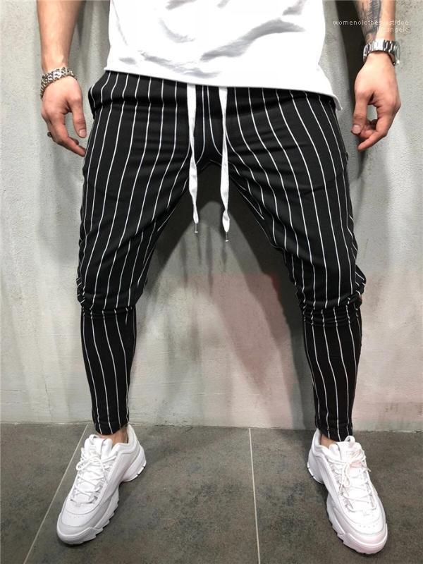 شريط عداء ببطء الأزياء أوم سروال رجل الربيع مصمم عادية سروال صالح سليم بنطلون عمودي