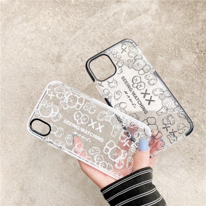 Für iPhone 11 Pro Max transparenten Fall Stoß- harten PC löscht Phone Cases rückseitige Abdeckung für iPhone XR XS 6 7 8 Plus für S20