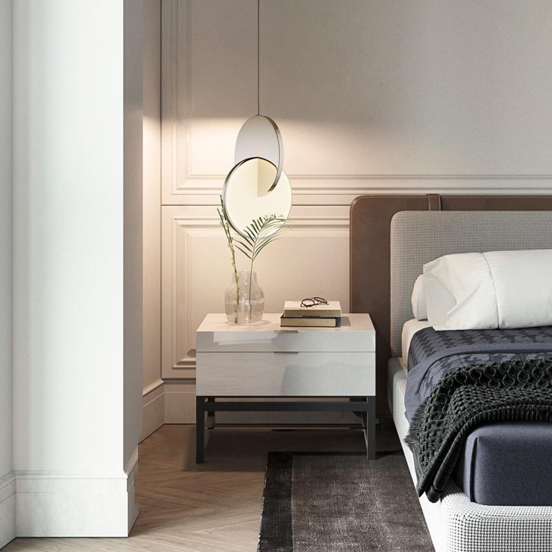 Anel Nórdico LED Luzes Moderna Geométrica Pendurado Lâmpada Círculo Luz de Ferro Quarto Decorativo Pingente Indoor Iluminação