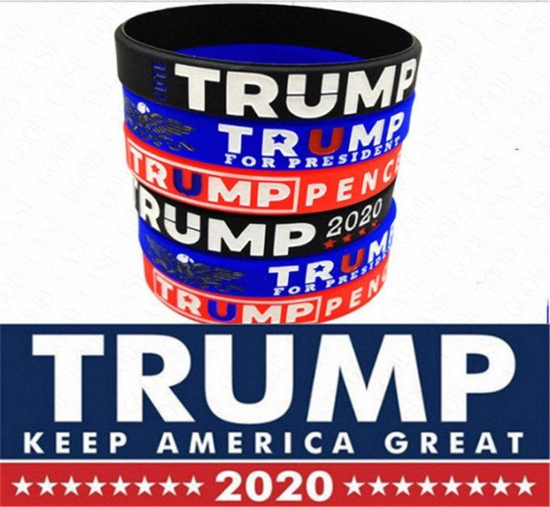 2020 2020 Trump Donald Silica Gel Bangle Trump Mantenha América grande Letters Impressão Pulseira Unisex Pulseiras Ambiental Acessó eI0W #