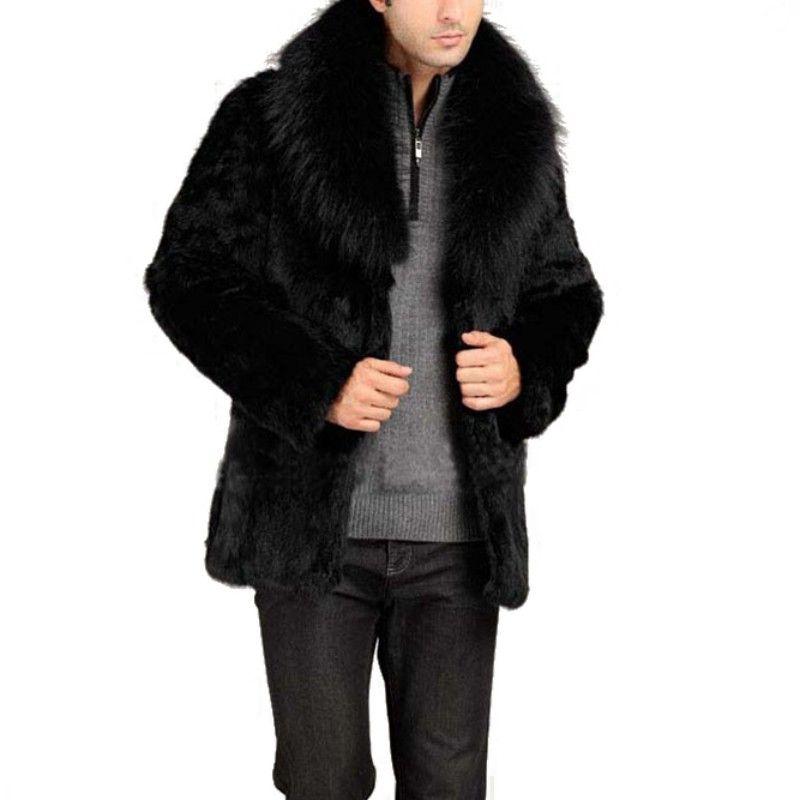 Зимние Осень Мужчины Женщины Унисекс Искусственная Кожа Сплошные Высокое Качество Мода Теплый Искусственный Шерльт Зимняя Куртка FZ1078