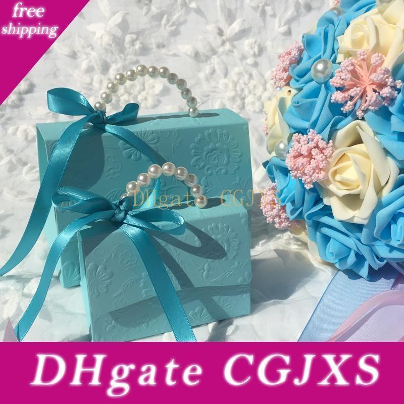 20pcs / Lot portatile favore festa di nozze dei contenitori di caramella baby shower regalo Borsa creativa diy Candy Box Romantico Mariage