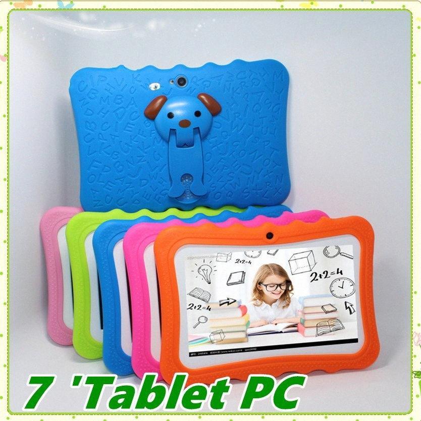 Kinder Marke Tablet PC 7-Zoll-Quad-Core-Kinder Tablet Android 4.4 Allwinner A33 google Spieler wifi großer Lautsprecher Schutzabdeckung MQ50 D4Ez #