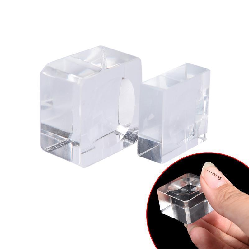 1pcs Glass False Eyelash Extension Pallet Fake Eye Lashes Crystal Holder Adhesive Glue Pad Makeup Tool