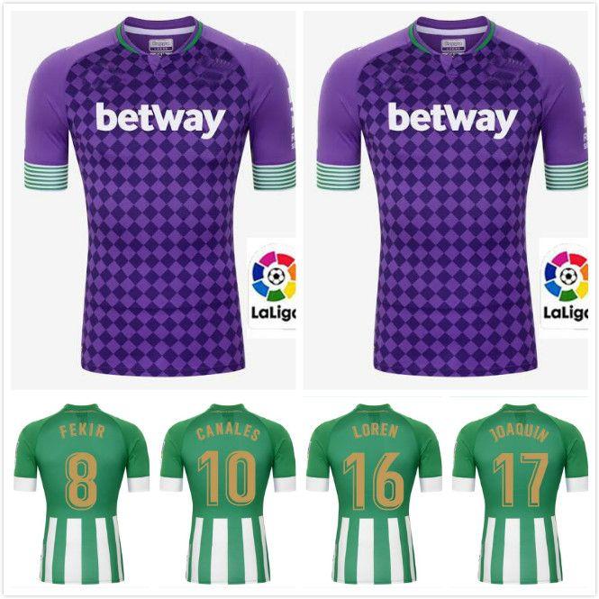 Adultos / niños 2020 2021 Real Betis FEKIR fútbol casero Jersey de distancia 20 21 JOAQUIN MANDI BARTRA CANALES jerseys del fútbol los hombres jóvenes CAMISAS
