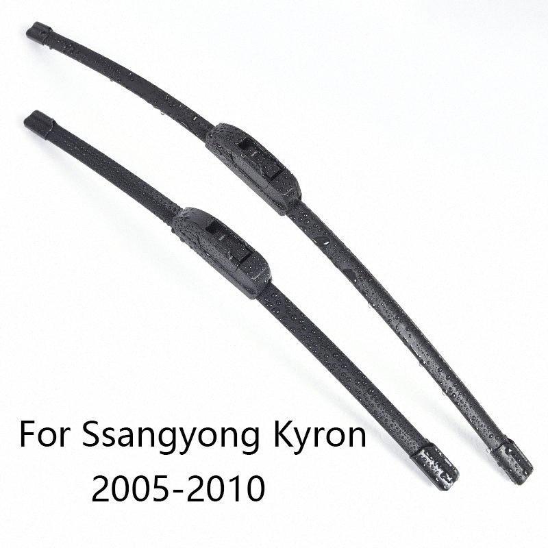 Parabrisas del coche escobillas para Ssangyong Kyron forma 2005 2006 2007 2008 2009 2010 Car limpiaparabrisas de goma lkBB #