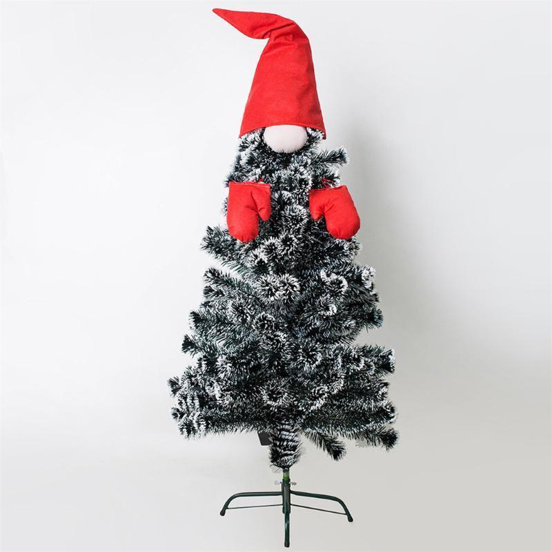 Árvore Capa Árvore de Natal Topper Top Hat enfeites Home Decor Decoracion Para Botellas De Vino Duendes Navidad