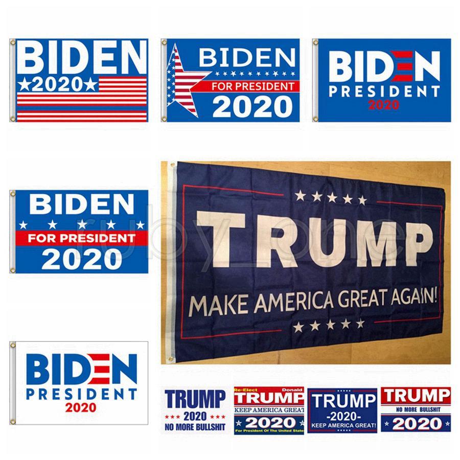 Joe Biden Trump 2020 Bandiera Supporto Lettera Opporsi Joe Biden Presidente USA 90 * 150cm Grande Hanging Trump 2020 Battenti bandiera 10 stili RRA3536
