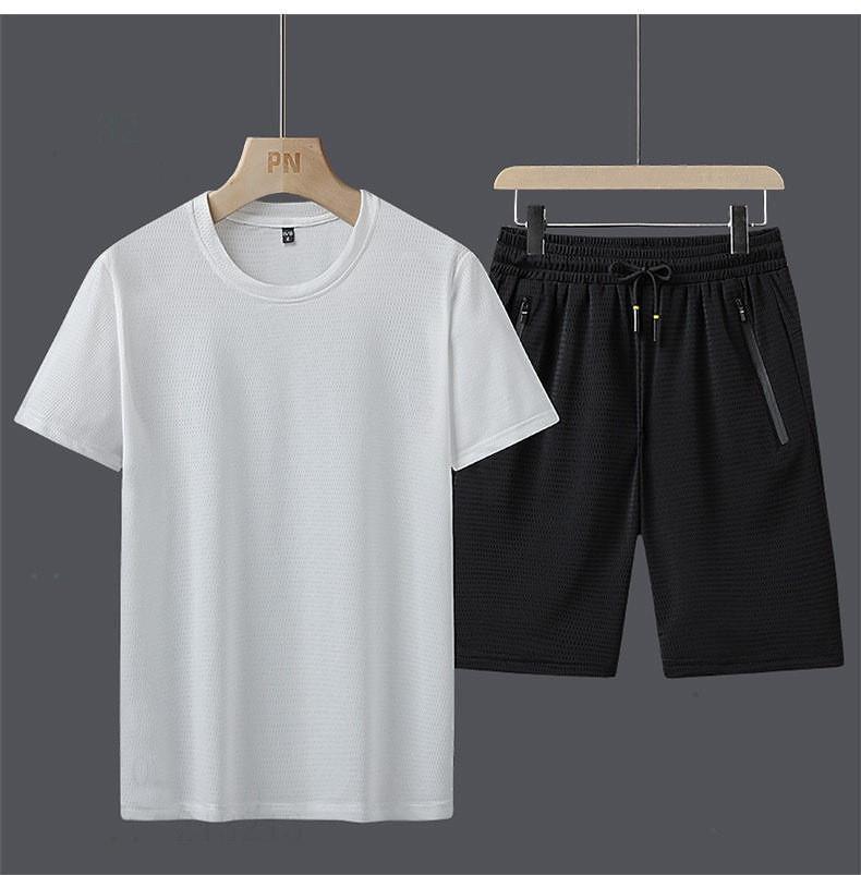 chándales hombre verano 2020 de ropa de lujo Sweatsuit uiuijnd de manga corta jersey con basculador de los pantalones ocasionales Trajes Homme Sportsui