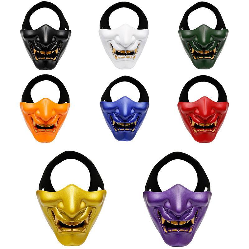 Trasporto veloce Halloween Ridere Prajna tattica Maschera COS Devil Horror Smorfia Maschio Adulta maschera di protezione mezza Birthday Party Mask F3102