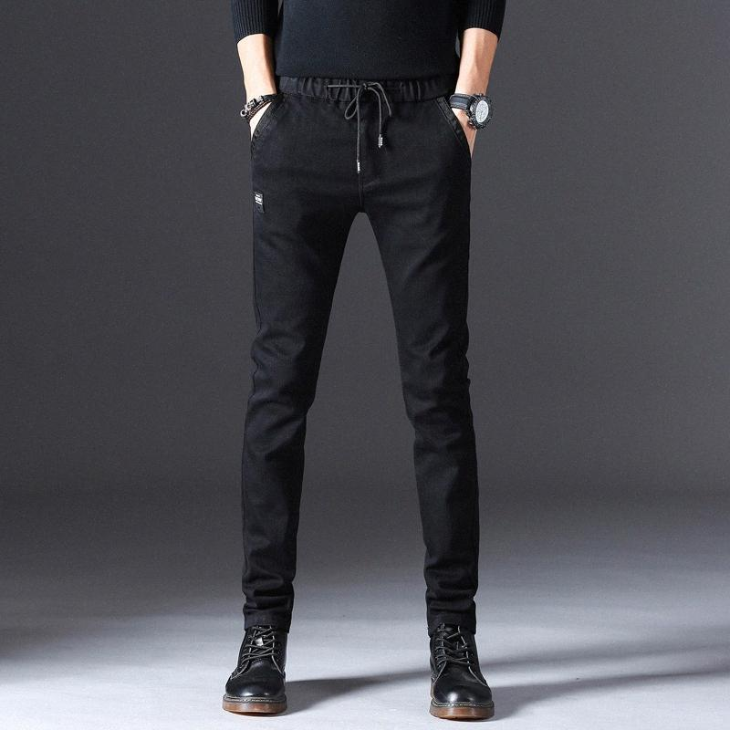 Men Black Jeans 2019 Spring Hop Hop Skinny Ripped Stretch Slim Fit Straight Pants Men Casual Elastic Jeans Plus Size trPp#