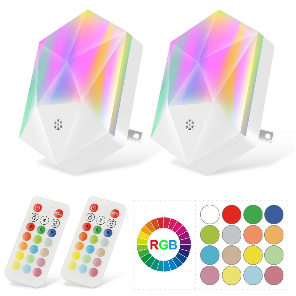 LED-Nachtlicht Dimmable 16 Farben RGB Wall Nachtlichter für Baby Kinder Zimmer Schlafzimmer Korridor Flur Treppen