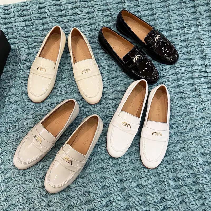 Zapatos de calidad superior de las mujeres zapatos ocasionales del cuero genuino para Estaciones resbalón en los poco profundos mocasines de cuero de piel de oveja de pisos