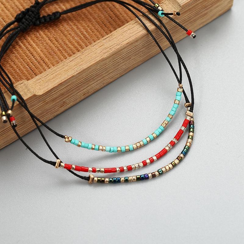 Semplice moda popolare tutto-fiammifero di lega in rilievo handmade braccialetto di perline multicolore stile bohemien gioielli braccialetto SoHch